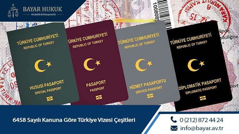 6458 Sayılı Kanuna Göre Türkiye Vizesi Çeşitleri